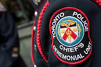 Toronto Police badge is seen during a police memorial parade in Ottawa Sunday September 26, 2010.