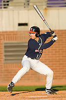 Reed Gragnani #4 of the Virginia Cavaliers at bat versus the East Carolina Pirates at Clark-LeClair Stadium on February 20, 2010 in Greenville, North Carolina.   Photo by Brian Westerholt / Four Seam Images