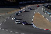 IMSA Continental Tire SportsCar Challenge<br /> Mazda Raceway Laguna Seca 240<br /> Mazda Raceway Laguna Seca<br /> Monterey, CA USA<br /> Saturday 23 September 2017<br /> 3, Aston Martin, Aston Martin Vantage, GS, Craig Lyons, Kris Wilson, 69, McLaren, McLaren GT4, GS, Chris Green, Jesse Lazare<br /> World Copyright: Michael L. Levitt<br /> LAT Images