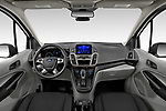 Stock photo of straight dashboard view of 2021 Ford Transit-Connect XL 4 Door Car Van Dashboard