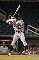 AZL White Sox center fielder Cabera Weaver (12) at bat during an Arizona League game against the AZL Indians 1 at Goodyear Ballpark on June 20, 2018 in Goodyear, Arizona. AZL Indians 1 defeated AZL White Sox 8-7. (Zachary Lucy/Four Seam Images)