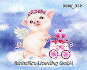 Kayomi, CUTE ANIMALS, LUSTIGE TIERE, ANIMALITOS DIVERTIDOS, paintings+++++,USKH352,#ac#, EVERYDAY ,pig,pigs