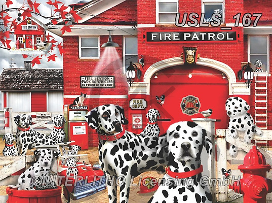 Lori, REALISTIC ANIMALS, REALISTISCHE TIERE, ANIMALES REALISTICOS, zeich, paintings+++++Dalmations_23_72_12in_Sunsout_9_2019,USLS167,#a#, EVERYDAY ,puzzle,puzzles