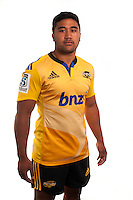 Vince Aso. Hurricanes Super Rugby official headshots at Rugby League Park, Wellington, New Zealand on Tuesday, 13 January 2015. Photo: Dave Lintott / lintottphoto.co.nz