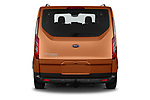 Straight rear view of 2021 Ford Tourneo-Custom Active 5 Door Passenger Van Rear View  stock images