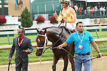May 2 2015: Dame Dorothy with Javier Castellano win the 29th running of the Grade I Humana Distaff for fillies & mares, 4-year olds going 7 furlongs at Churchill Downs.  Trainer Todd Pletcher. Owner Bobby Flay. Sue Kawczynski/ESW/CSM