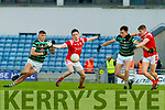 Diarmuid O'Connor, St. Brendan's Board in action against Brendan O'Keeffe, East Kerry before the Kerry County Senior Football Championship Semi-Final match between East Kerry and St Brendan's at Austin Stack Park in Tralee, Kerry.
