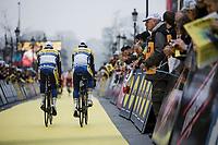 Team Sport Vlaanderen Baloise pre race team presentation<br /> <br /> 103rd Ronde van Vlaanderen 2019<br /> One day race from Antwerp to Oudenaarde (BEL/270km)<br /> <br /> ©kramon