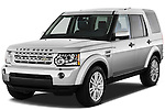 Front three quarter view of a 2010 Land Rover LR4.