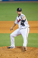 at Greer Stadium on July 25, 2014 in Nashville, Tennessee.  The Sounds defeated the RedHawks 2-0.  (Brian Westerholt/Four Seam Images)