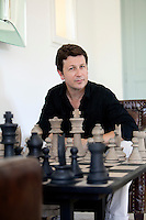 Craig Logan, CEO of Logan Media Entertainment (LME), poses for the photographer at his home near Nice, France, 29th June 2011.<br /> <br /> Craig began his career as bassist in the pop band Bros before becoming an artist manager
