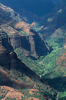 Waimea Canyon at sunset, Kauai, Hawaii, USA, August 1996