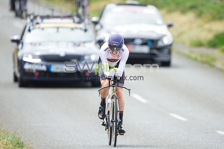 Picture by Alex Whitehead/SWpix.com - 22/06/2017 - British Cycling - HSBC UK National Road Championships - Isle of Man - Men's U23 Time Trial - Scott Davies of Team Wiggins on his way to victory in the Men's U23 Time Trial. Picture by Simon Wilkinson/SWpix.com - 22/06/2017 - British Cycling - HSBC UK National Road Championships - Isle of Man - Men's U23 Time Trial - Scott Davies of Team Wiggins on his way to victory in the Men's U23 Time Trial.