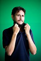 """Davide Morosinotto è uno scrittore, traduttore e giornalista italiano, nonché autore di numerosi romanzi per ragazzi, tra cui Il rinomato catalogo Walker & Dawn """"Il fiore perduto dello sciamano di K"""", """"La  sfolgorante luce di due stelle rosse"""", """"Voi"""" e """"La più grande"""". Pordenone, 16 settembre 2021. Photo by Leonardo Cendamo/Getty Images"""