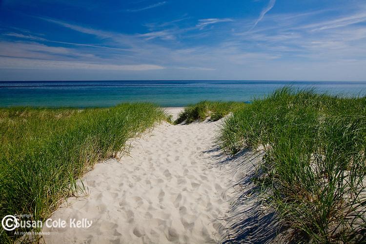 Cape Cod Bay at East Sandwich Beach in Sandwich, Cape Cod, MA, USA