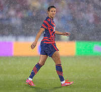 EAST HARTFORD, CT - JULY 1: Carli Lloyd #10 of the USWNT walks onto the field during a game between Mexico and USWNT at Rentschler Field on July 1, 2021 in East Hartford, Connecticut.