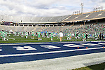 North Texas Mean Green in action  before the Zaxby's Heart of Dallas Bowl game between the Army Black Knights and the North Texas Mean Green at the Cotton Bowl Stadium in Dallas, Texas.