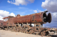 BOLIVIA  UYUNI village environment<br /> Uyuni Railway cemetery relicts of the mining boom during the last century<br /> <br /> Full size: 69,2 MB.