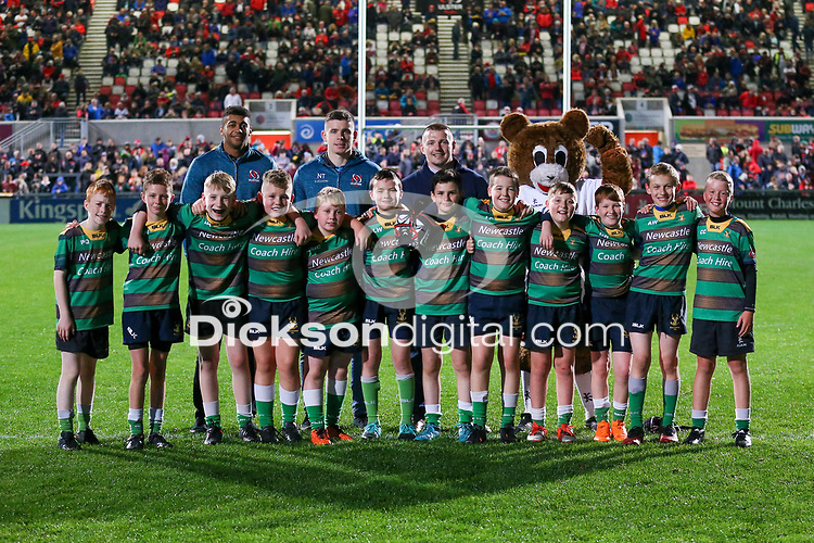 27th September 2019 | Ulster vs Ospreys<br /> <br /> Mini-rugby during the opening PRO14 League clash between Ulster Rugby and the Ospreys at Kingspan Stadium, Ravenhill Park, Belfast, Northern Ireland. Photo by John Dickson / DICKSONDIGITAL