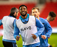 16th February 2021; Bet365 Stadium, Stoke, Staffordshire, England; English Football League Championship Football, Stoke City versus Sheffield Wednesday; Chey Dunkley of Sheffield Wednesday during the warm up