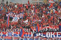 MEDELLIN - COLOMBIA, 22-02-2020: Hinchas del Medellín animan a su equipo durante partido por la fecha 6 entre Deportivo Independiente Medellín y Atlético Nacional como parte de la Liga BetPlay DIMAYOR I 2020 jugado en el estadio Atanasio Girardot de la ciudad de Medellín. / Fans of Medellin cheer for their team during Match for the date 6 between Deportivo Independiente Medellin and Atletico Nacional as a part BetPlay DIMAYOR League I 2020 at Atanasio Girardot stadium in Medellin city. Photo: VizzorImage / Leon Monsalve / Cont