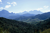 Itatiaia, Brazil. Typical undulating hilly countryside in the Serra de Mantiqueira. Rio de Janeiro State.