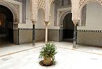 Patio de las Munecas in El Alcazar in Seville, Spain.