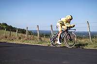 Yellow Jersey Julian Alaphilippe (FRA/Deceuninck Quick Step) will surprisingly win the time trial and extend his lead over his closest competitors.<br /> <br /> Stage 13: ITT - Pau to Pau (27.2km)<br /> 106th Tour de France 2019 (2.UWT)<br /> <br /> ©kramon