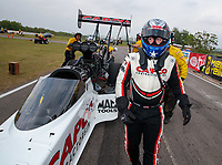 Apr 13, 2019; Baytown, TX, USA; NHRA top fuel driver Steve Torrence during qualifying for the Springnationals at Houston Raceway Park. Mandatory Credit: Mark J. Rebilas-USA TODAY Sports