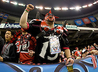 01 January 2010:  Bearcats fan root for his team during the game between Florida and Cincinnati during Sugar Bowl at the SuperDome in New Orleans, Louisiana.  Florida defeated Cincinnati, 51-24.