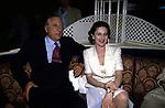 RAIMONDO ORSINI CON LA MOGLIE KETEVAN BAGRATION  - GILDA CLUB ROMA 1997