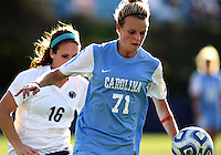 SAN DIEGO, CA - DECEMBER 02, 2012:  Hanna Gardner (71) of the University of North Carolina during the NCAA 2012 women's college championship match, at Torero Stadium, in San Diego, CA, on Sunday, December 02 2012. Carolina won 4-1.