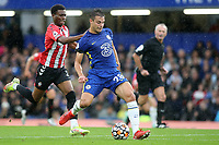 Cesar Azpilicueta of Chelsea in action during Chelsea vs Southampton, Premier League Football at Stamford Bridge on 2nd October 2021