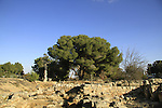Israel, remains of the Byzantine village at the Archaeological site in Kibbutz Ramat Rachel