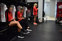 Houston, TX - Sunday Oct. 09, 2016: Western New York Flash  prior to a National Women's Soccer League (NWSL) Championship match between the Washington Spirit and the Western New York Flash at BBVA Compass Stadium.