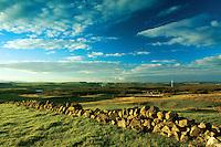 Looking across the Neilston countryside from above Harelaw Dam, Neilston, East Renfrewshire