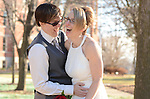 Raechelle Clemmons and Dana Swiecichowski wedding in De Pere, Wis., on January 2, 2015.