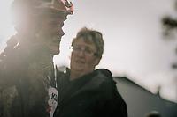 Katie Compton (USA/KFC Racing p/b Trek/Panache) post-finish<br /> <br /> Women's race<br /> Superprestige Gavere / Belgium 2017