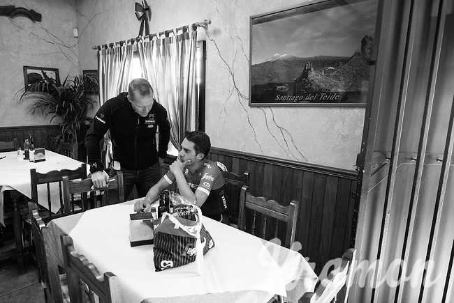 Team Trek-Segafredo at winter training camp with Alberto Contador & DS Steven Dejongh<br /> <br /> january 2017, Tenerife/Spain