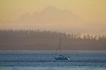 Port Townsend, Mount Baker Puget Sound, Point Wilson, Fort Worden State Park, Washington State, State Park, Pacific Northwest,