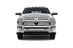 Car photography straight front view of a 2015 Ram 3500 Laramie Mega Cab 4 Door Van