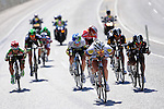 Riders at high speed during Stage 5 of the 2015 Presidential Tour of Turkey running 159.9km from Mugla to Pamukkale. 30th April 2015.<br /> Photo: Tour of Turkey/Mario Stiehl/www.newsfile.ie