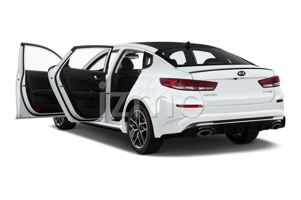 Car images close up view of a 2019 KIA Optima SX-Turbo 4 Door Sedan doors