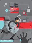 Illustrative image of internet identity theft