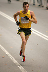 Dan Browne runs through Central Park while competing in the 2008 Men's Olympic Trials Marathon on November 3, 2007 in New York, New York.  The race began at 50th Street and Fifth Avenue and finished in Central Park.  Hall won the race with a time of 2:09:02.