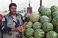 Tripoli, Libya.  Egyptian Watermelon Vendor.