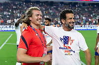 LAS VEGAS, NV - AUGUST 1: Kevin Shank, Steve Tashjian of the United States during a game between Mexico and USMNT at Allegiant Stadium on August 1, 2021 in Las Vegas, Nevada.