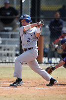 March 15, 2010:  Second Baseman Matt Swensen of the Roger Williams University Hawks in a game vs Fontbonne University at Lake Myrtle Park in Auburndale, FL.  Photo By Mike Janes/Four Seam Images