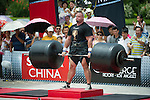 HAINAN ISLAND, CHINA - AUGUST 24:  Brian Shaw of USA competes at the Deadlift for Max event during the World's Strongest Man competition at Yalong Bay Cultural Square on August 24, 2013 in Hainan Island, China.  Photo by Victor Fraile