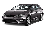 2017 Seat Leon-ST FR 5 Door Wagon Angular Front stock photos of front three quarter view